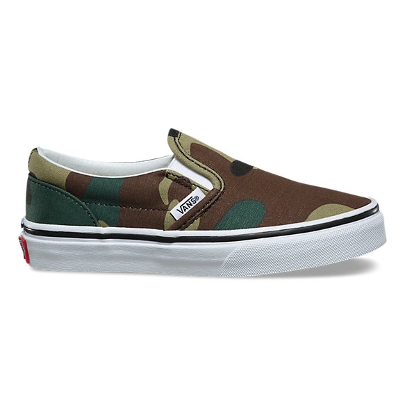Kids Woodland Camo Slip-On