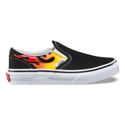 Vans Kids Flame Classic Slip-On (Black/Black/True White)