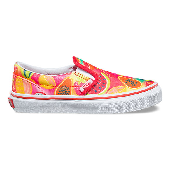 Kids Glitter Fruits Slip-On