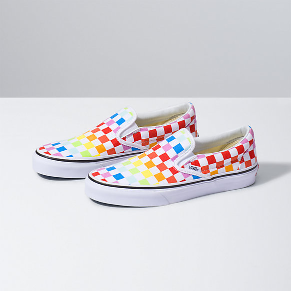 vans slip on checker