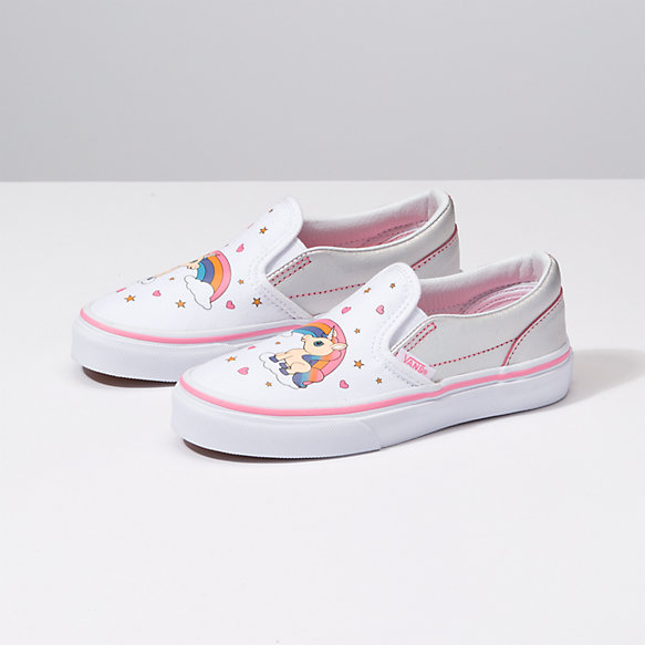 Kids Unicorn Rainbow Classic Slip On
