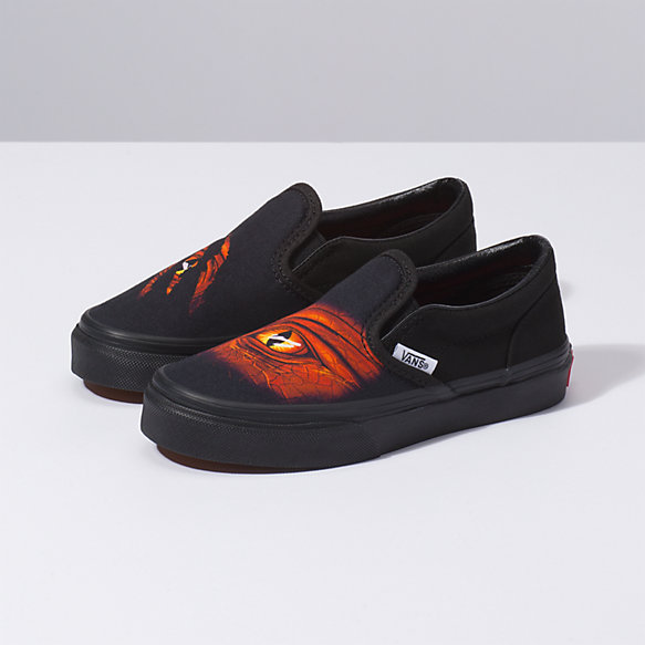 Kids Dragon Flame Classic Slip On