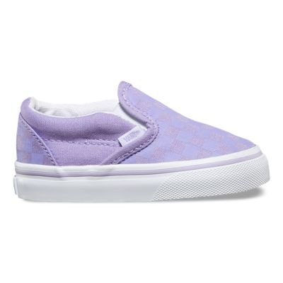 Vans Lavender Slip On Womens Shoes