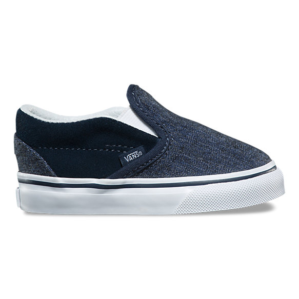 Toddler Suede & Suiting Slip-On