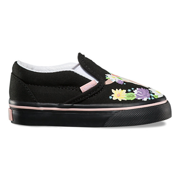 Toddlers Flower Crown Slip-On