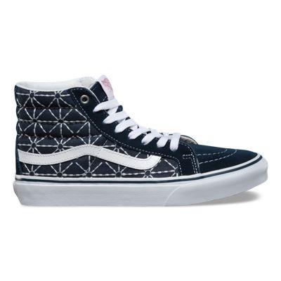 Womens Athletic Shoes vans sk8 hi slim denim dress blues quilted zephyr wl3u22r3