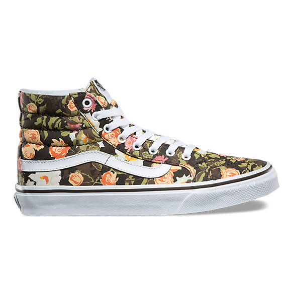 Abstract Floral SK8-Hi Slim