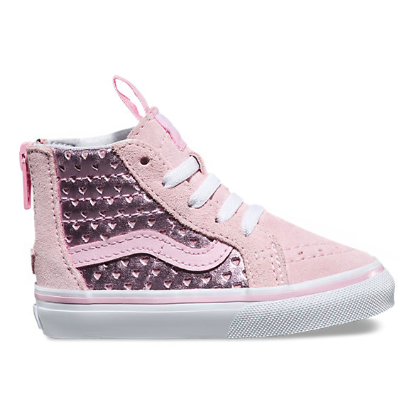 Toddler Metallic Heart Perf SK8-Hi Zip