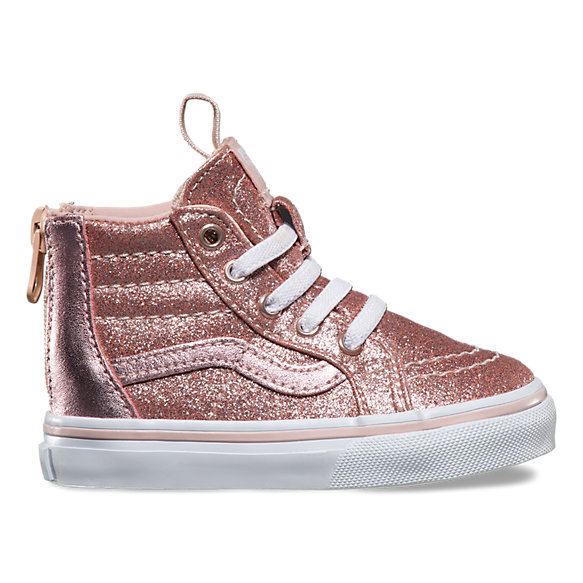 Toddlers Glitter Metallic SK8-Hi Zip