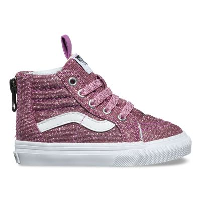 1ba833438afe Toddler Lurex Glitter Sk8-Hi Zip   Vans CA Store
