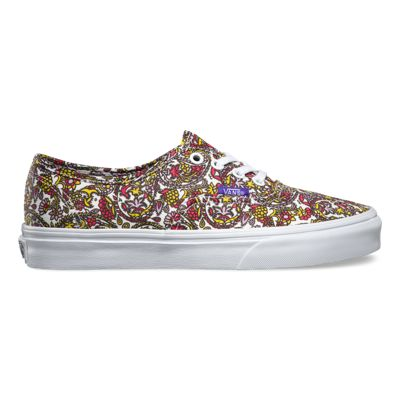 Free delivery -  Vans Liberty Authentic Womens Shoes Paisley/True White