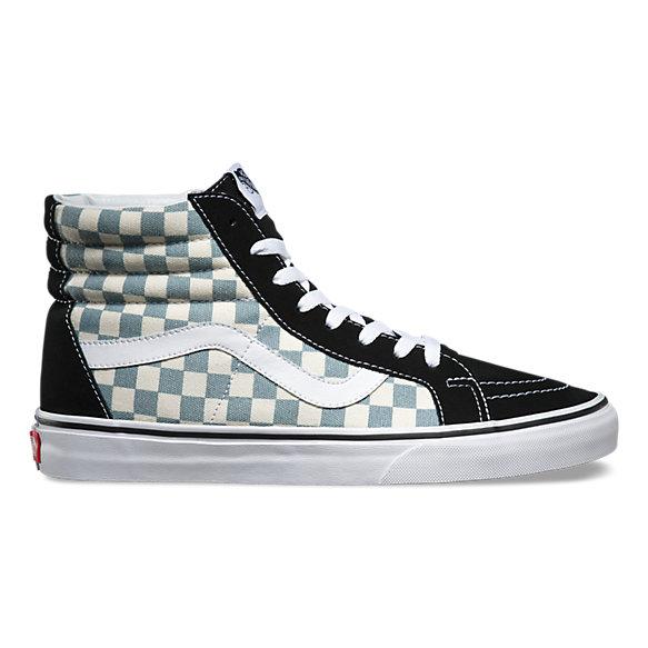 vans sk8 hi checkerboard