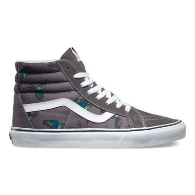 2018 Official authorized -  Vans Dirty Bird SK8-Hi Reissue Womens Shoes Pewter/True White