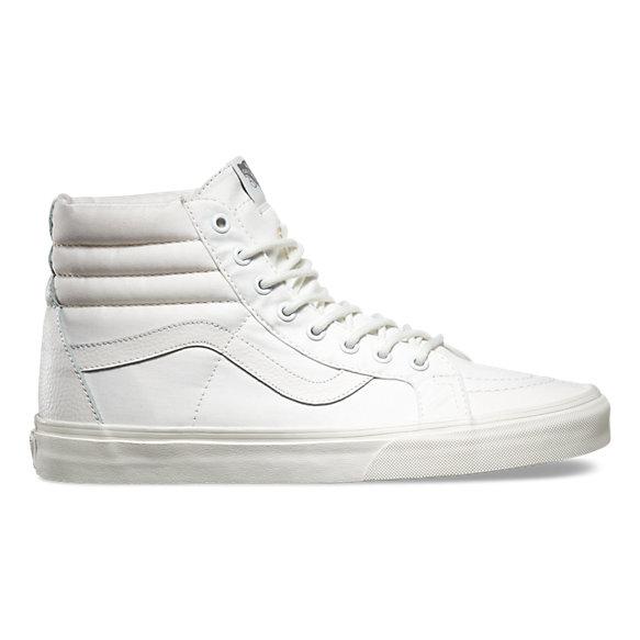 Vans Schuhe SK8 HI Reissue Leather Blanc de Blanc