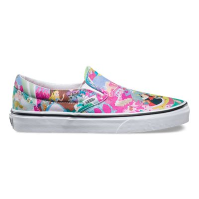 Vans Classic Slip On (Disney) Mickey Mouse Grey Mens Shoes Outlet UK