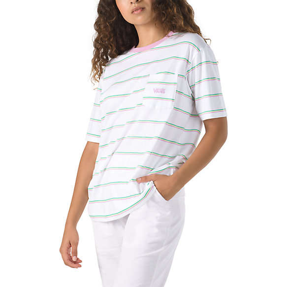 Mini Stripe Pocket Boyfriend Tee