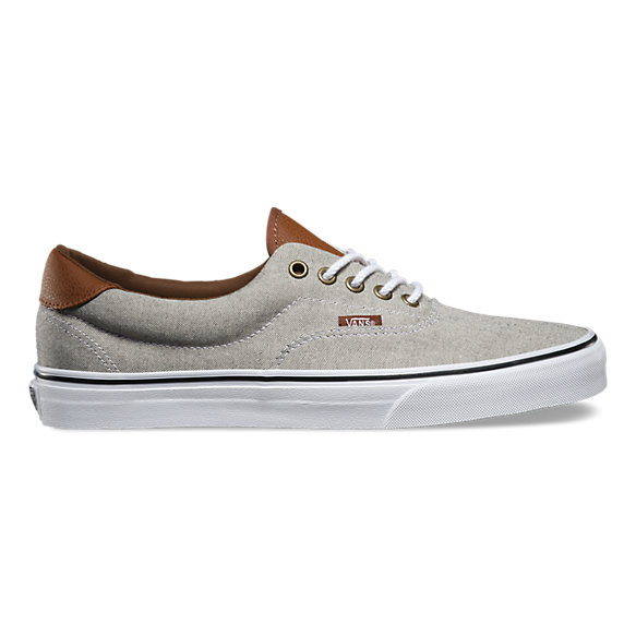 vans era 59 blue brown leather