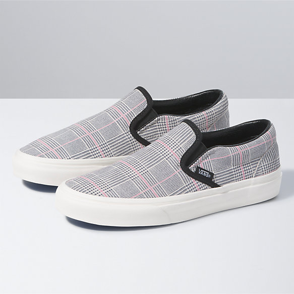 Suede Plaid Classic Slip-On