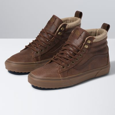 leather hi top vans