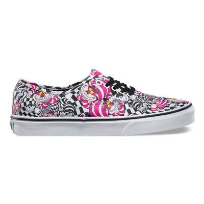Official authorized -  Vans Disney Authentic Womens Shoes Cheshire Cat/Black