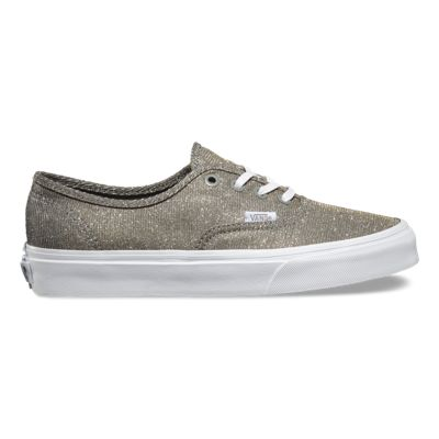 UK Official authorized Vans Shimmer Authentic Womens Shoes Silver