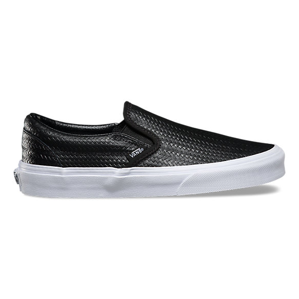 vans basket weave slip on