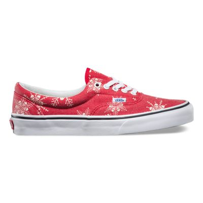 Vans ERA Classics van doren skull snowflake racing red uk 7