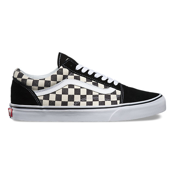 vans checkerboard bordowe