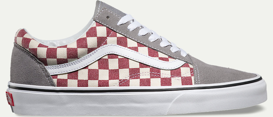vans old skool checkerboard frost grey