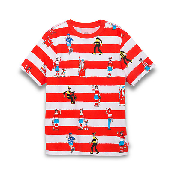 Vans X Where's Waldo? Boys Stripe T-Shirt
