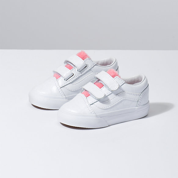 Toddler White Giraffe Old Skool V