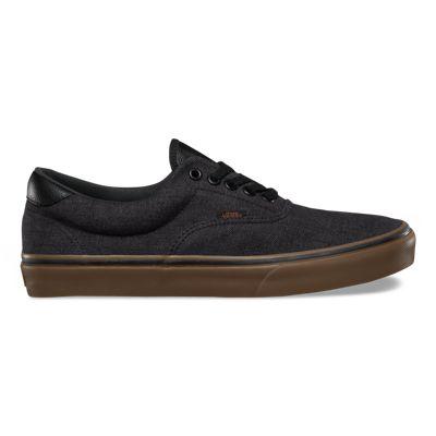 Unisex Shoes Vans Slip-On 59 (Denim C&L) Black