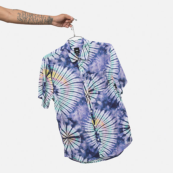 New Age Tie Dye Buttondown Shirt
