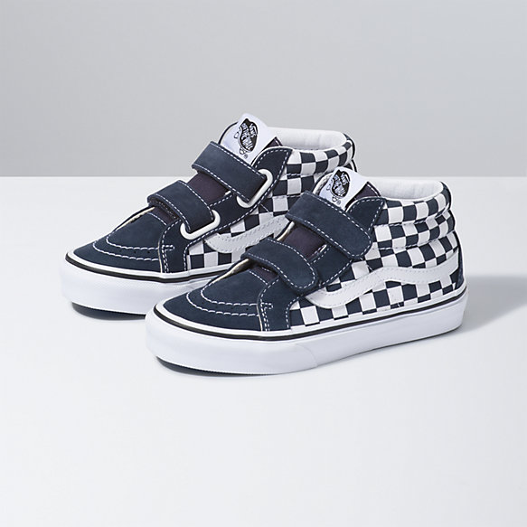Kids Checkerboard Sk8-Mid Reissue V