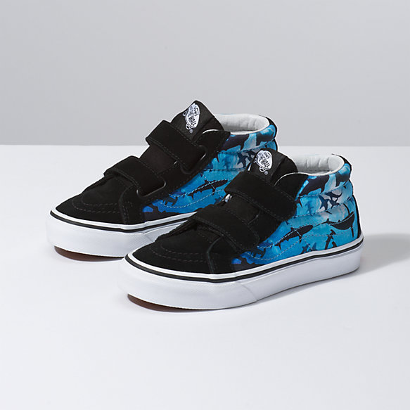 Kids Shark Swim Sk8-Mid Reissue V