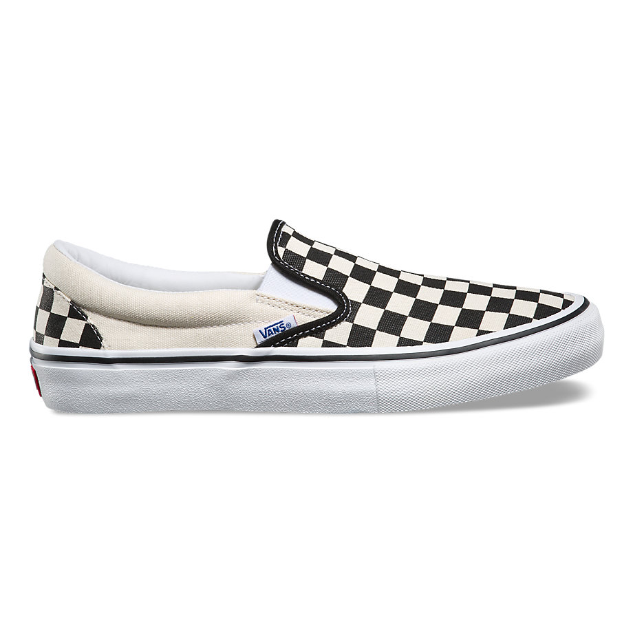Vans Slip On Pro Shoes black white checkerboard online canada