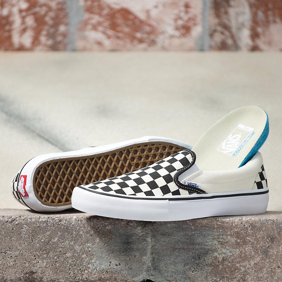 Vans Slip On Pro Shoes black white checkerboard