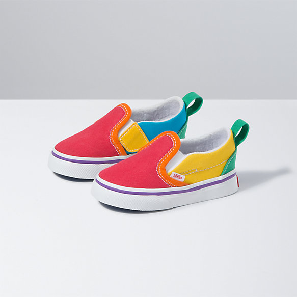 Toddler Rainbow Colorblock Slip-On V