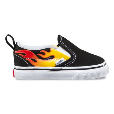 Vans Toddler Flame Slip-On V (Black/Black/True White)