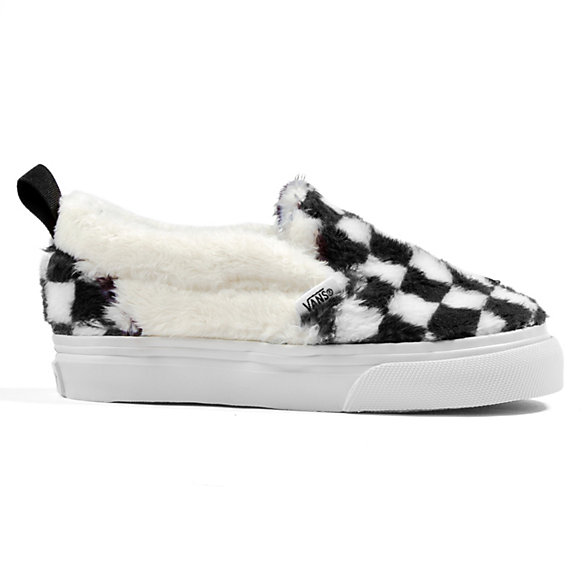 Toddlers Sherpa Checkerboard Slip-On V | Shop At Vans