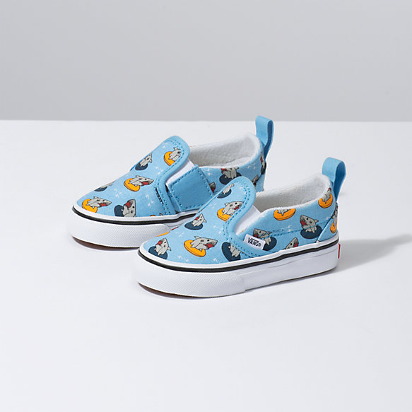Toddler Floatie Sharks Slip-On V