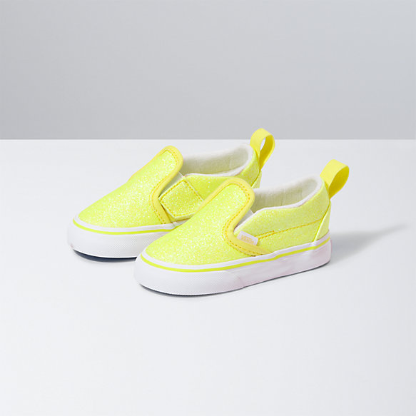Toddler Neon Glitter Slip-On V