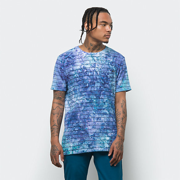 Tie Dye Checkerstripe Shirt