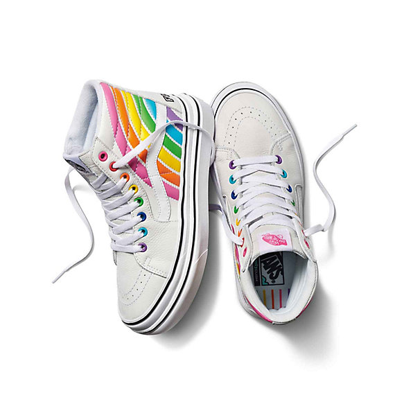 Vans X FLOUR SHOP Super ComfyCush Sk8-Hi Rainbow