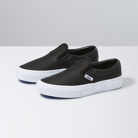 Kids Perf Leather Slip-On