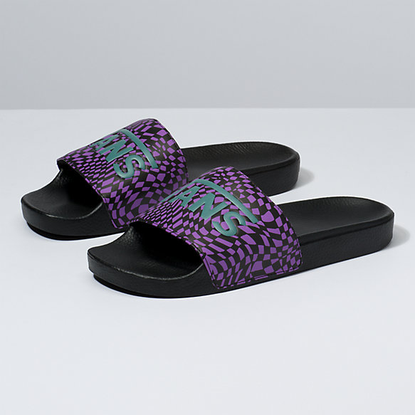 Mens Warp Check Slide-On