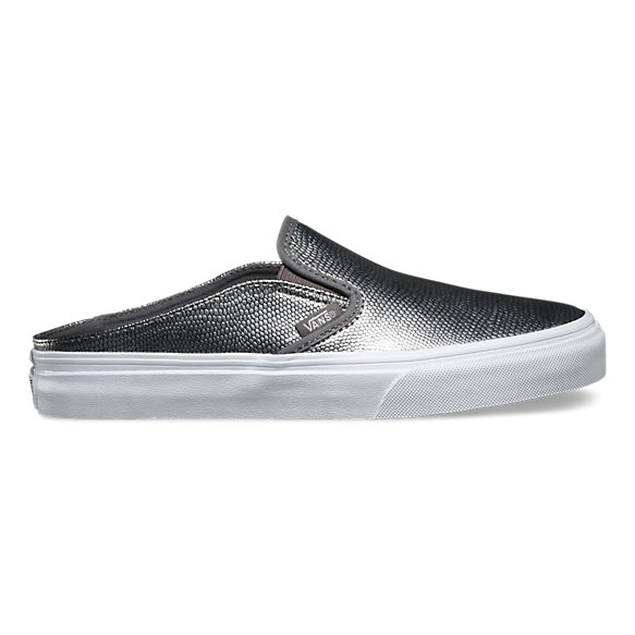 02c569e36d Embossed Leather Slip-On Mule