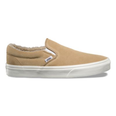 Classic Slip On (Suede/Fleece) Khaki Men's 7