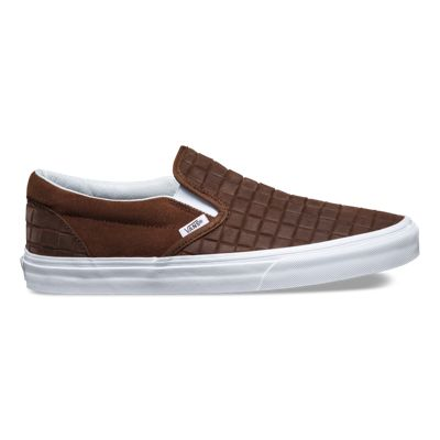 suede checkers slip on shop shoes at vans. Black Bedroom Furniture Sets. Home Design Ideas