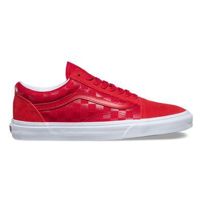 vans old skool red chex